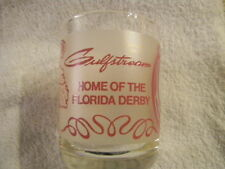 Vintage Gulfstream glass- Home of The Florida Derby-Horse Racing- Derby Daiquiri