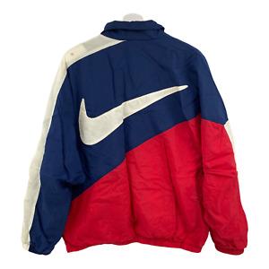 Vintage Nike Windbreaker Full Zip Big Swoosh Size Adult Large 90's Colorblock