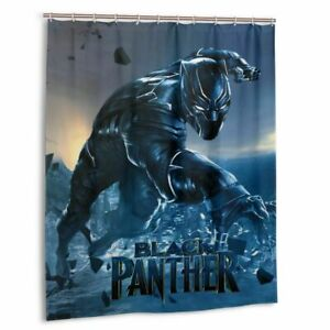 Cool Black Panther Waterproof Shower Curtain Bathroom Wall Hangings Home Decor
