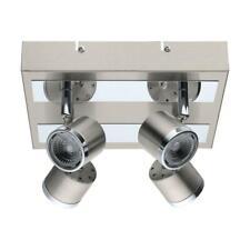 Eglo Pierino Satin Nickel & Chrome Integrated LED Ceiling Flush Mount Light