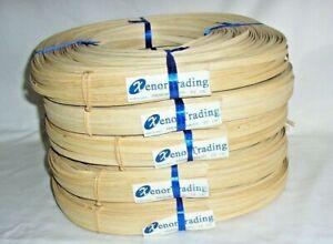 "5 one pound rolls 1/4"" flat Basket Weaving Reed New"