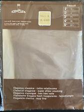 calze da reggicalze nylon grigie vintage stockings OMSA 9