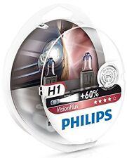 2 x Bombillas Philips VisionPlus H1 60% Vision Plus Faros Halogeno Coche Lampara
