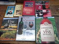 Lot de 7 livres et revue  sur le vin