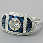 3.49ct Round cut Vintage Solitaire Diamond Engagement Ring Solid 14K White Gold