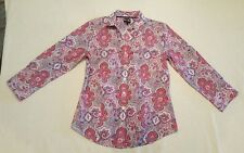 Talbots Women's Paisley Button Down Size 6