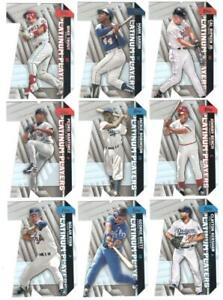 2021 Topps Platinum Players Complete Die Cut Insert Set of 25 Trout Aaron Jeter+
