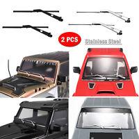 2pcs Movable Metal Wipers Replace for TRX6 TRX4 Benz Jimny Wrangler KM2 RC Car