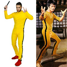 Chinese Kung Fu Master Bruce Lee Game Of Death Yellow Jumpsuit Fancy Costume OS