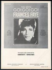 1965 Frances Faye photo Regina Records vintage print ad