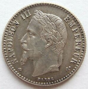 Top! France 50 Centimes 1867 BB IN Extremely fine