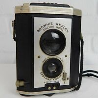 Vintage Brownie Reflex Box Camera Synchro Model Eastman Kodak USA