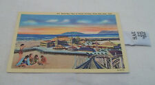 Vintage postcard swimmers Saltair Pavillion Great Salt Lake Utah salt packet
