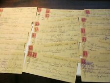 DEALER LOT OF 25 THE CANADIAN BANK OF COMMERCE WITH REVENUE STAMPS ( 1930'S)