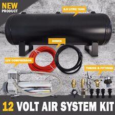 NEW 9.5L 12V Air Compressor Tank Kit Including Airbag Tyre Inflator, 1.8cfm Pump