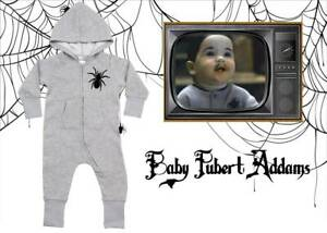 Hooded Addams Family Baby Pubert Spider Rompersuit/Baby Grow Halloween Novelty