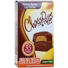 ChocoRite - Peanut Butter Cup Patties Sugar Free, Low Calorie, 6ct