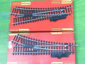 HORNBY - 2 x R613 Right hand system 6 Standard points track - OO Gauge boxed
