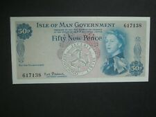 ***Superb 1st Issue* Isle-of-Man**50p 'AUNC' 1969 Banknote**