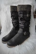 NEU - Marco Tozzi Damen Stiefel mit Stern Applikation Farbe: Dunkelbraun Gr. 42