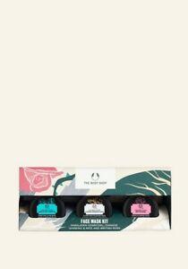 The Body Shop-Face Mask Kit-Himalayan Charcoal-Chinese Ginseng-Rice/British Rose