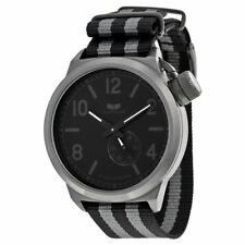 NEW Vestal CAN3N02 Men's Canteen Black Dial Nylon Strap Watch