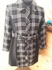Mac And Jac Womens Black & white Check Coat with Purple Undertones Size14 Petite