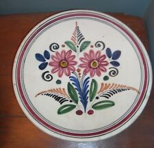 Pablo Sanguino Toledo Spain Pottery Wall Plate Vintage Hand Painted Flowers