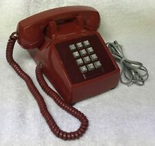 Vintage 1970s WESTERN ELECTRIC 2500 Series RED PushButton Desktop Telephone