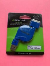 Enercell Retractable Charge/Sync Cable For iPod and iPhone. #2730711