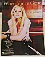 When You're Gone Easy Piano Sheet Music Avril Lavigne Guitar Banjo Chords 2007