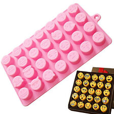 Funny Emoji Face DIY Silicone For Cake Chocolate Sugar Candy Soap Baking Mould.
