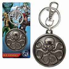 Marvel Comics NEW * Hydra Logo Pewter Keychain * Key Chain Ring Licensed NIP