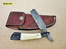 RZ-27, Handmade Damascus Steel Straight Razor - Beautiful & Solid Handle