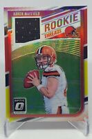 Baker Mayfield 2018 Donruss Optic Relic Jersey Rookie RC Red & Yellow SP (Browns