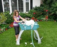 Pet Dog Cat Grooming Bathing Tub Station Elevated Portable Extra Large Teal New