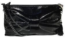 NWT Jessica Simpson Woman's Clutch X-Body, Metallic Black, Adjustable Strap