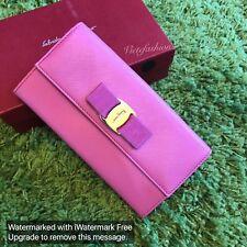 NWT $595 Salvatore Ferragamo Vara Long Wallet