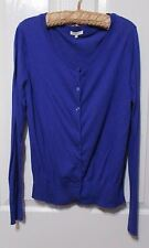 LADIES  MIX BLUE CARDIGAN SIZE MEDIUM Light weight buttoned up round neck