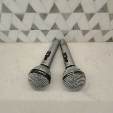 New listing Lot of two Shure Wired Microphones, Unisphere A, PE 585 & 5855A, both work, used
