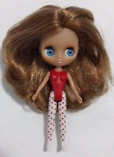 "Littlest Pet Shop Blythe Doll B1 Brown Hair Blue Eyes Naked 4.5"" EUC 2010"