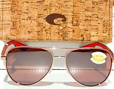 NEW* Costa Del Mar Women's Rose Gold Aviator POLARIZED Rose PELI 290 Sunglass