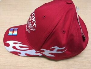 Victory Motorcycles flamed baseball cap...red