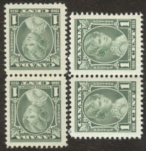 Canada Stamps # 211, 1¢, 1935, lot of 4 MNH stamps.