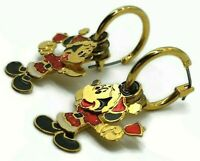 Mickey Mouse 3 Part Body Dangles Vintage 3-D Layered Earrings Jewelry