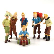 Lot de 6 Figurines Les Aventures de Tintin et Milou -NEUVES-