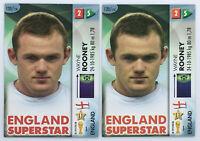 2006 Panini Goaaal! Wayne Rooney 2 Card Soccer Lot  #120 Football card England