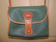Vintage Dooney & Bourke All Weather Leather Essex Green Purse Bag