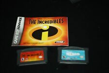 Nemo Game Boy Advance Game Lot Plus The Incredibles w/ Instruction Manual -Uux