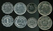 BELIZE SET 4 COINS 1 5 10 25 CENTS 2000 - 2007 KM 114-117 UNC